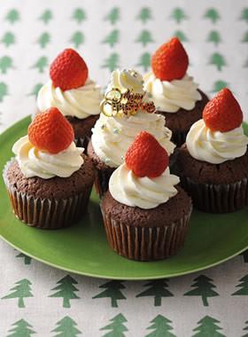 クリスマスデコレーションカップケーキ