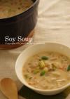 豆乳きのこスープ