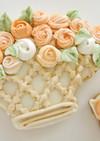 簡単絞り出しバラの花・アイシングクッキー