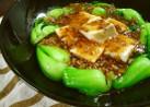 チンゲン菜と豆腐の中華肉あんかけ