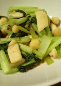 イカと小松菜のピリ辛中華炒め