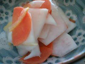 かぶの柚子なます