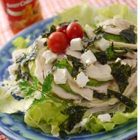 鶏ハムとアボカドの綺麗になるサラダ