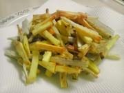 さつま芋とごぼうの簡単おつまみの写真