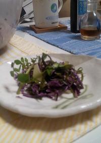 簡単!切りコンブでサラダ!
