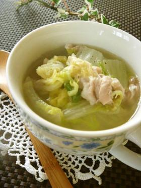 白菜と豚バラ☆食べる生姜スープ