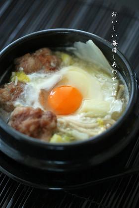 お一人様の塩麹豚団子鍋
