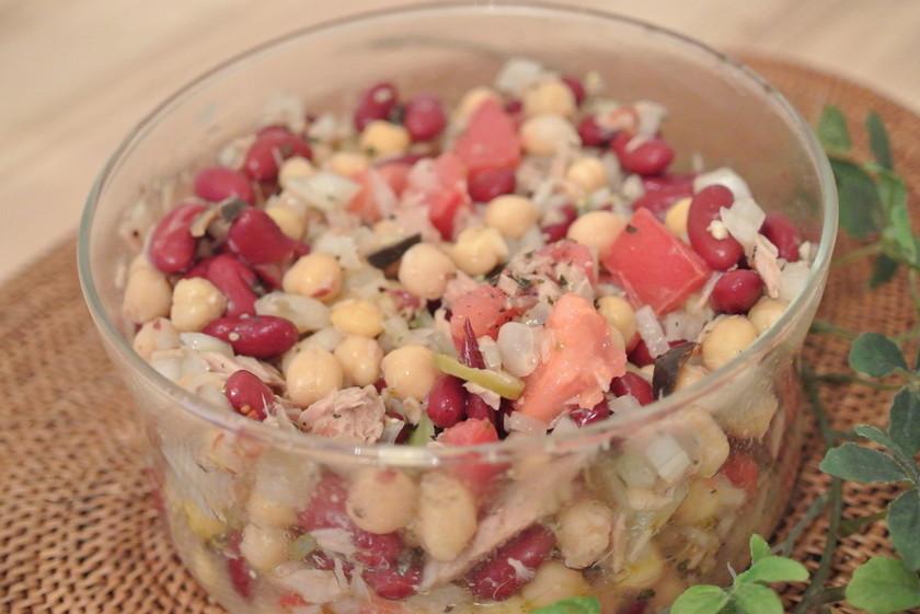 簡単!作りおき出来るシチリア風の豆サラダ