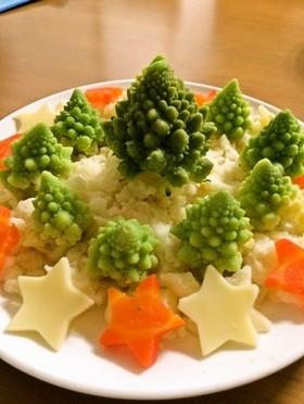 ロマネスコで★クリスマス風サラダ