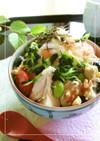 お豆たっぷり♡ 鶏卵スープごはん。
