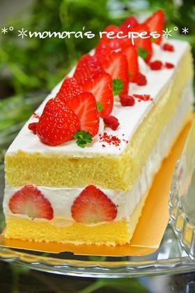 HMで簡単♡苺ショートケーキお誕生日にも