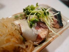 鯖と糸蒟蒻の味噌煮