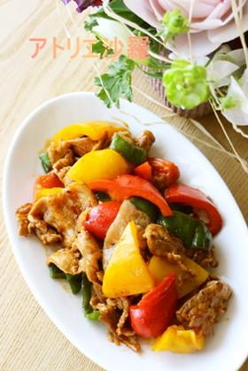 簡単&美味!パプリカ&豚肉の辛味噌炒め❤