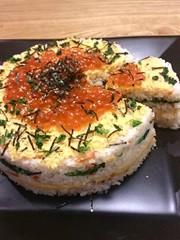 簡単!ちらし寿司ケーキの写真
