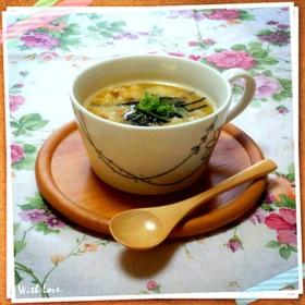 レンジで納豆卵雑炊