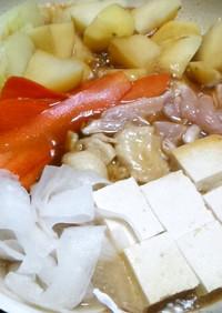 簡単フライパンで…鶏ムネ肉のすき焼き