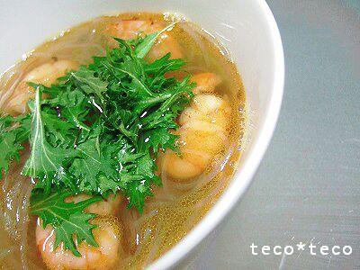 海老と春雨のスープ