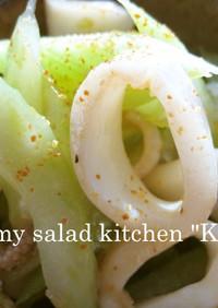 イカとセロリのピリ辛中華風サラダ