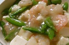 ほっこり優しい味☆豆腐とエビの中華炒め