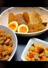 大根と焼き豆腐と半熟たまごの煮物♡