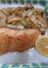 秋鮭のバター醤油焼き・白菜、しめじ添え