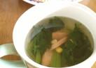 簡単!レンジでウインナーのスープ