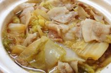 豚バラ白菜鍋