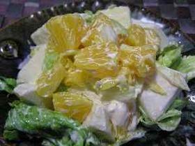 伊予柑とリンゴのフルーツサラダ