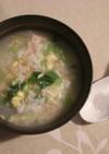 オキアミと中国野菜の中華粥・みんと風