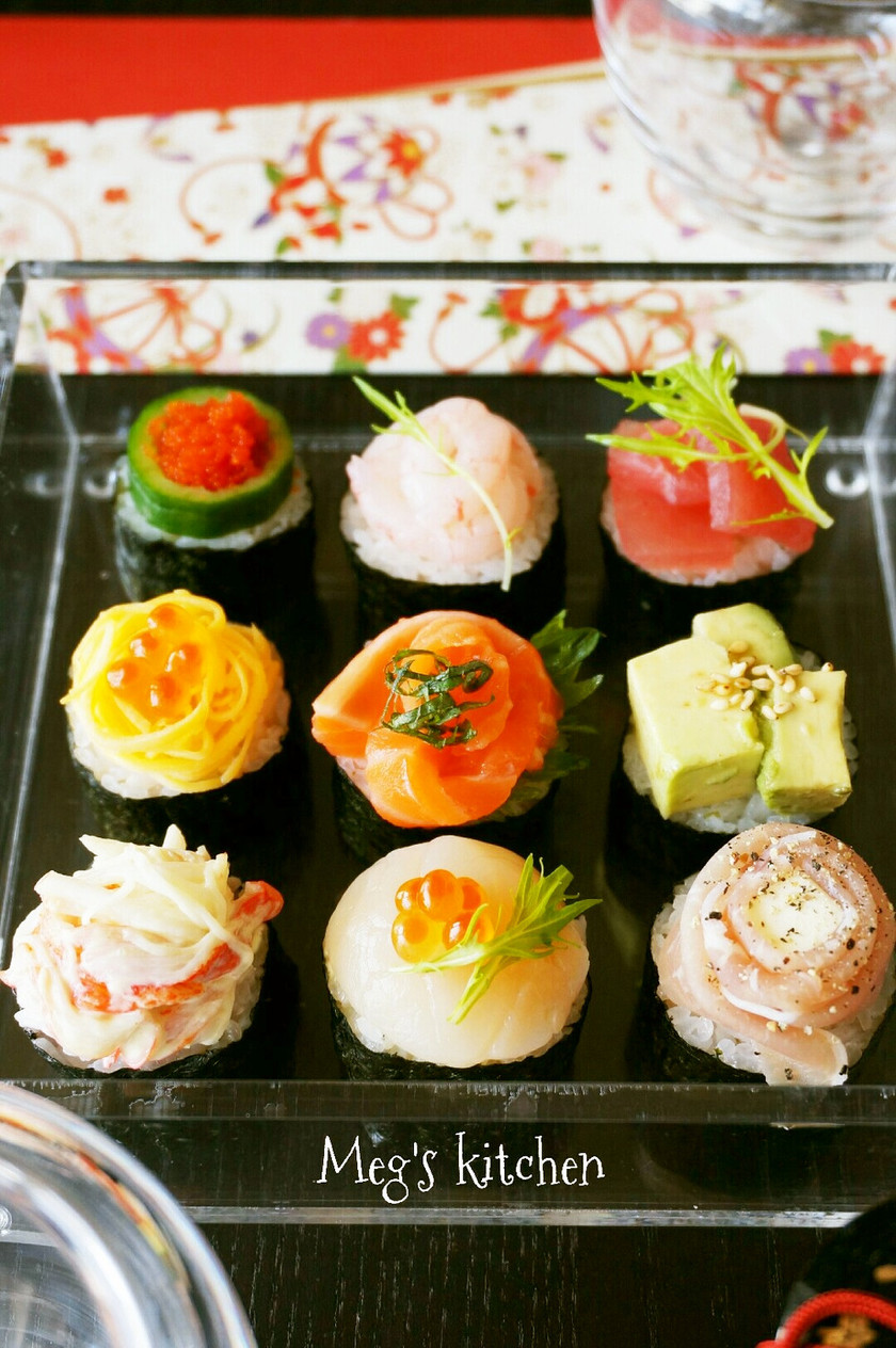 手鞠寿司より簡単!?手鞠寿司風巻き寿司