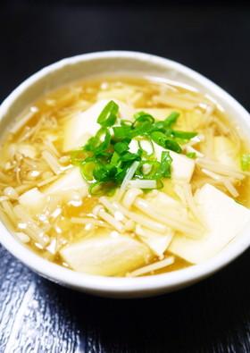 鍋1つで簡単!絹ごし豆腐のきのこあんかけ