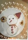 クリスマス☆雪だるま キャラケーキ♪