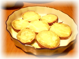サツマイモのチーズ焼き