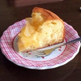 リンゴ×カスタードケーキ
