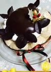 クリスマスに☆つやつやチョコムースケーキ
