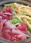 千切りキャベツと豚肉のはりはり鍋風