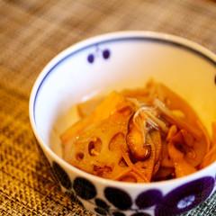 レンコンと茸のバルサミコきんぴら