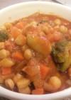 鶏手羽元とひよこ豆のトマト煮込み