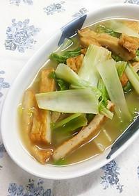 しろ菜(白菜)と揚げかまぼこのあっさり煮