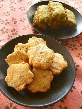あずきと桜のクッキー*。○
