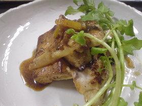 豆腐とかじきのフルーツビネガーソテー