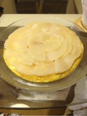 サバラン風の桃ットケーキ!