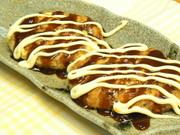 豆腐と長ネギのふわふわお好み焼き風の写真