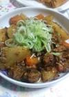 簡単 サバ缶と根菜の炒め煮