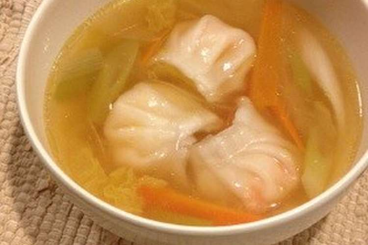 スープ 水 レシピ 餃子