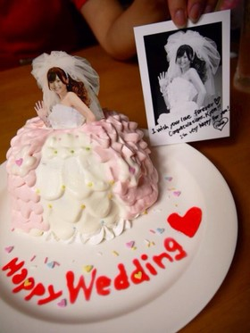 ウェディング ドレス デコケーキ♡