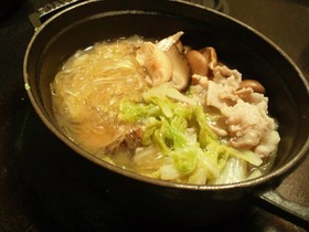 原木干し椎茸のピェンロー鍋