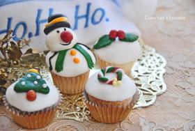 クリスマス・デコレーション・カップケーキ