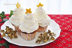 クリスマス・ストロベリー・カップケーキ