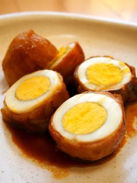 お弁当に◎簡単♪ゆで卵の肉巻き☆照り焼き